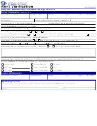"Form HW0410 ""Rent Verification"" - Idaho"