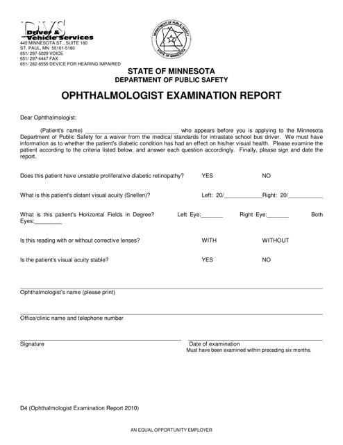 Form D4  Printable Pdf