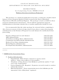 "Instructions for Form DHMH432A-H ""Human Services Contract Proposal"" - Maryland"