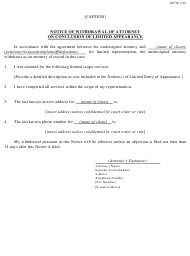 """""""Notice of Withdrawal of Attorney on Conclusion of Limited Appearance"""" - Kansas"""