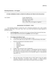 """Docketing Statement - Civil Appeal"" - Kansas"