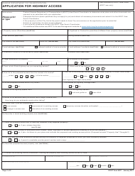 "DOT Form 827 ""Application for Highway Access"" - Kansas"