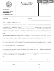 "Form RT DS47 ""Designated Agent Bond for Illinois Vehicle Dealers"" - Illinois"