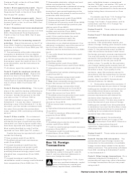 """Instructions for IRS Form 1065 Schedule K-1 """"Partner's Share of Income, Deductions, Credits, Etc. (For Partner's Use Only)"""", Page 14"""