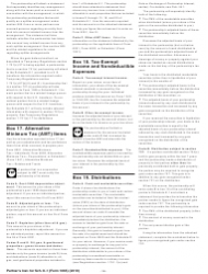 """Instructions for IRS Form 1065 Schedule K-1 """"Partner's Share of Income, Deductions, Credits, Etc. (For Partner's Use Only)"""", Page 15"""
