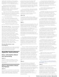 """Instructions for IRS Form 1065 Schedule K-1 """"Partner's Share of Income, Deductions, Credits, Etc. (For Partner's Use Only)"""", Page 6"""
