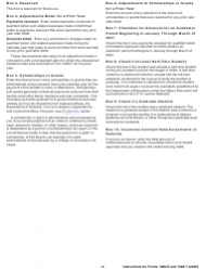 """Instructions for IRS Form 1098-E, 1098-T """"Student Loan Interest Statement and Tuition Statement"""", Page 4"""