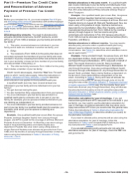 Download Instructions for IRS Form 8962 Premium Tax Credit ...