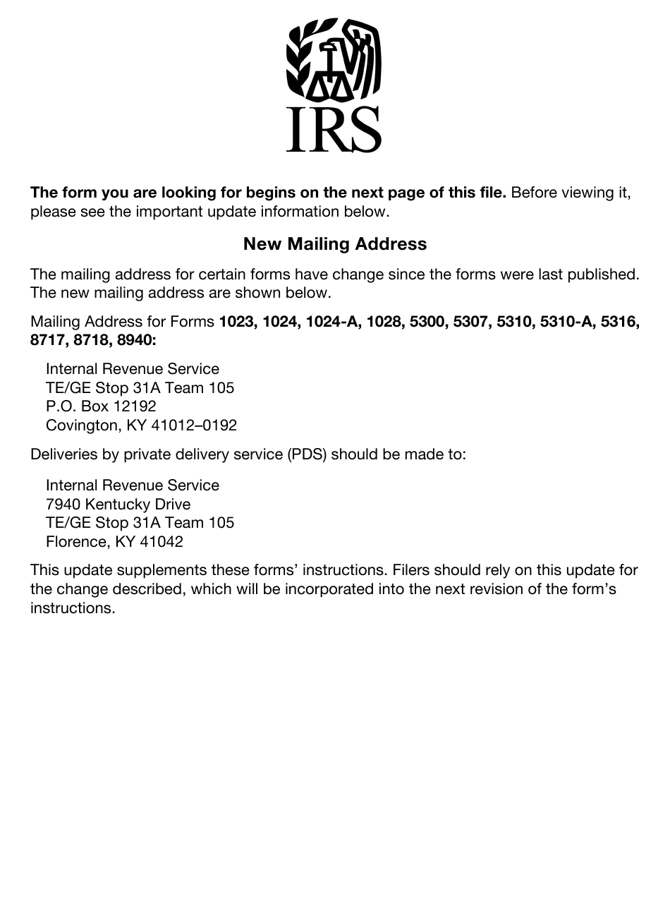 IRS Form 1024-A Download Fillable PDF or Fill Online ...