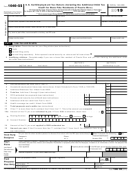 "IRS Form 1040-SS ""U.S. Self-employment Tax Return (Including the Additional Child Tax Credit for Bona Fide Residents of Puerto Rico)"""
