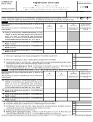 """IRS Form 1065 Schedule D """"Capital Gains and Losses"""""""