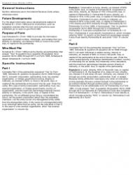 """IRS Form 1065 Schedule B-1 """"Information on Partners Owning 50% or More of the Partnership"""", Page 2"""