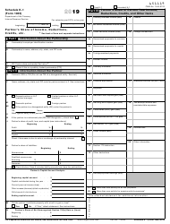 """IRS Form 1065 Schedule K-1 """"Partner's Share of Income, Deductions, Credits, Etc."""", 2019"""