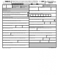"IRS Form 1042-S ""Foreign Person's U.S. Source Income Subject to Withholding"", Page 2"