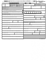 "IRS Form 1042-S ""Foreign Person's U.S. Source Income Subject to Withholding"", Page 8"