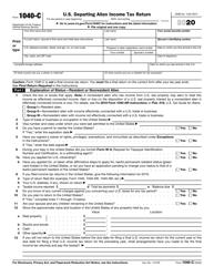 "IRS Form 1040-C ""U.S. Departing Alien Income Tax Return"", 2020"