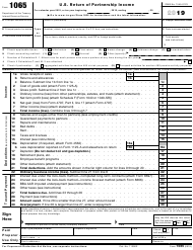 "IRS Form 1065 ""U.S. Return of Partnership Income"", 2019"
