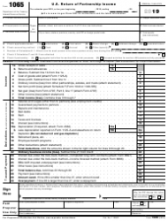 "IRS Form 1065 ""U.S. Return of Partnership Income"""