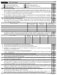 "IRS Form 1065 ""U.S. Return of Partnership Income"", Page 2"