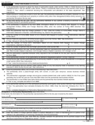 "IRS Form 1065 ""U.S. Return of Partnership Income"", Page 3"