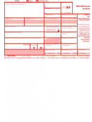 "IRS Form 1099-MISC ""Miscellaneous Income"", Page 2"