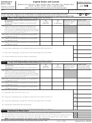 "IRS Form 1120 Schedule D ""Capital Gains and Losses"", 2019"