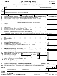 "IRS Form 1120-H ""U.S. Income Tax Return for Homeowners Associations"", 2019"