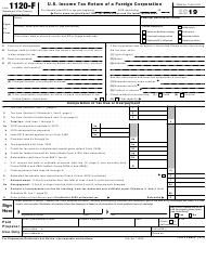 "IRS Form 1120-F ""U.S. Income Tax Return of a Foreign Corporation"", 2019"