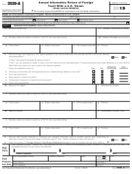 """IRS Form 3520-A """"Annual Information Return of Foreign Trust With a U.S. Owner"""""""