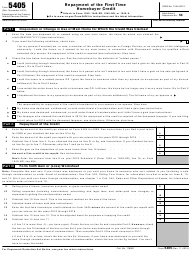 """IRS Form 5405 """"Repayment of the First-Time Homebuyer Credit"""""""