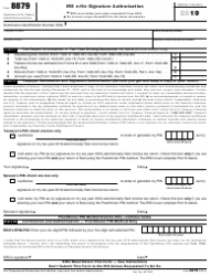 "IRS Form 8879 ""IRS E-File Signature Authorization"""