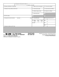 "IRS Form W-2VI ""U.S. Virgin Islands Wage and Tax Statement"", Page 6"