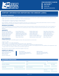 """Airport Information Reporting for Oregon (Airo)"" - Oregon"