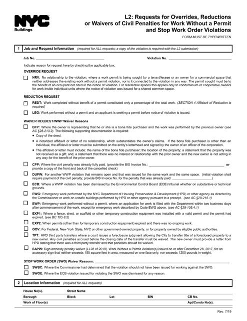Form L2  Printable Pdf
