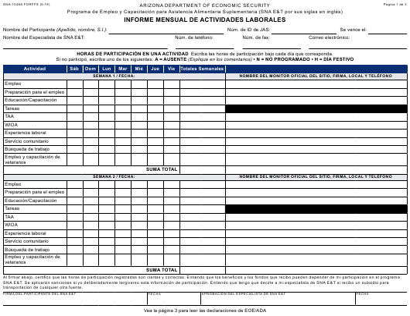 Formulario SNA-1046A-S  Printable Pdf