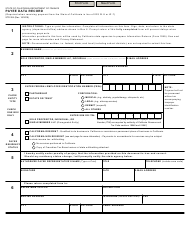 "Form STD204 ""Payee Data Record"" - California"