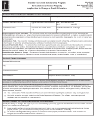"""Form DR-117100 """"Florida Tax Credit Scholarship Program for Commercial Rental Property Application to Change a Credit Allocation"""" - Florida"""