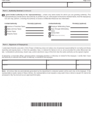 "Form A-222 ""Power of Attorney"" - Wisconsin, Page 2"
