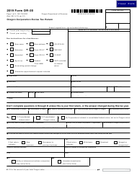 "Form OR-20 (150-102-020) ""Oregon Corporation Excise Tax Return"" - Oregon, 2019"