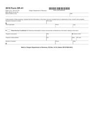 """Form OR-41 (150-101-041) """"Oregon Fiduciary Income Tax Return"""" - Oregon, Page 4"""