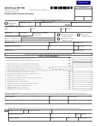 "Form OR-706 (150-104-001) ""Oregon Estate Transfer Tax Return"" - Oregon, 2019"