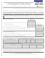 "Form LB-50 (150-504-073-7) ""Notice of Property Tax and Certification of Intent to Impose a Tax, Fee, Assessment, or Charge on Property"" - Oregon, 2021"