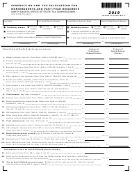 """Form ND-1 (SFN28724) Schedule ND-N1NR """"Tax Calculation for Nonresidents and Part-Year Residents"""" - North Dakota, 2019"""