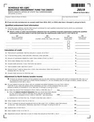 "Form ND-1 (SFN28708) Schedule ND-1QEC ""Qualified Endowment Fund Tax Credit"" - North Dakota, 2019"