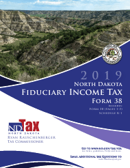 """Instructions for Form 38 """"Fiduciary Income Tax"""" - North Dakota, 2019"""