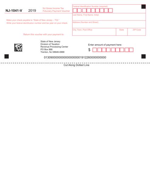 form 1041 extension voucher