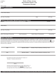 "Form GIT/REP-2 ""Nonresident Seller's Tax Prepayment Receipt"" - New Jersey"