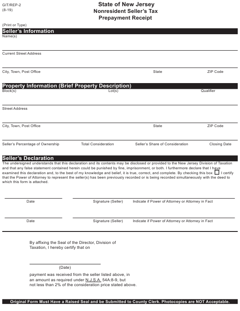 Form GIT/REP-2 Printable Pdf