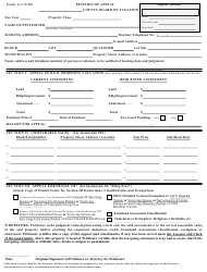 "Form A-1 ""Petition of Appeal"" - New Jersey"