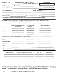 "Form AA-1 ""Added/Omitted Petition of Appeal"" - New Jersey"
